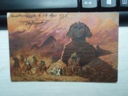 Cpa Sphinx Im Samum - Le Sphinx Au Simoun. De Constantinople Le 24 Mars 1922. - Sphinx