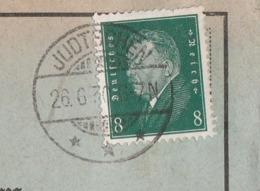 Ostpreussen Deutsches Reich Karte Mit Tagesstempel Judtschen *** 1930 Lk Gumbinnen RB Gumbinnen Werbung Schweine - Briefe U. Dokumente