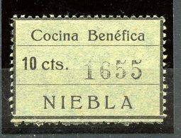 ESPAÑA GUERRA CIVIL. NIEBLA (SEVILLA). Edifil 6*** Sello Completo (raro Así) - Emisiones Nacionalistas