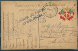 FRANCHIGIA POSTA MILITARE 35° DIVISIONE B 63°REGGIMENTO FANTERIA BRIGATA CAGLIARI X NAPOLI - War 1914-18