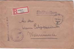 German Feldpost WW2: Registered Cover From Kommandant Von Gross-Paris Verwaltungsstab - Militaria