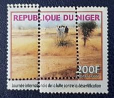 NIGER 2000 YT 1574 M - ERROR MISPERFORATION- LUTTE CONTRE DESERTIFICATION DESERT STRUGGLE AGAINST -  EXTREMLY RARE - MNH - Niger (1960-...)