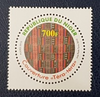 NIGER 2010 COUVERTURE TERA TERA TAPISERY - ODD SHAPE CIRCULAR - RARE MNH - Niger (1960-...)
