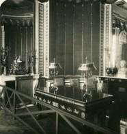 France Chateau De Fontainebleau Bureau De Napoleon Ancienne Photo Stereo NPG 1900 - Photos Stéréoscopiques