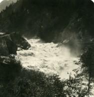 Suisse Chutes De Visp Viege Ancienne Photo Stereo 1900 - Photos Stéréoscopiques