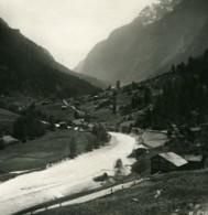 Suisse Valais Vallee De La Viege Saint-Nicolas Ancienne Photo Stereo 1900 - Stereoscopio