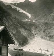 Suisse Glacier Du Weisshorn Vallee De La Viege Ancienne Photo Stereo 1900 - Fotos Estereoscópicas