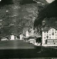 Suisse Vallee De La Viege Täsch Ancienne Photo Stereo 1900 - Stereoscopio
