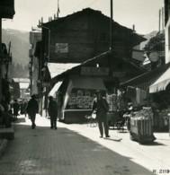 Suisse Zermatt Grand Rue Magasins Ancienne Photo Stereo 1900 - Stereoscopio
