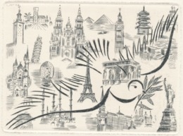 Nieuwjaarskaart Colette Pettier (1907-1983) - Stampe & Incisioni