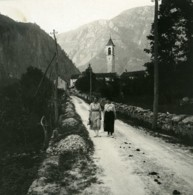 Suisse Vallemaggia Pres D'Avegno Ancienne Photo Stereo Possemiers 1900 - Stereoscopio