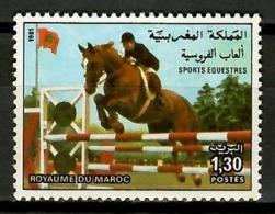 Morocco 1981 Marruecos / Horses Horsing MNH Caballos Hipica / Kh09  10-6 - Caballos