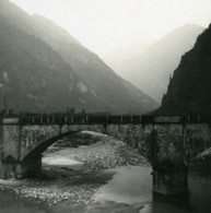Suisse Vallemaggia Pont Prés De Cevio Ancienne Photo Stereo Possemiers 1900 - Stereoscopio