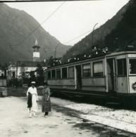 Suisse Vallemaggia Gare De Bignasco Train Ancienne Photo Stereo Possemiers 1900 - Stereoscopio