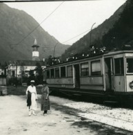 Suisse Vallemaggia Gare De Bignasco Train Ancienne Photo Stereo Possemiers 1900 - Stereo-Photographie