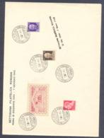 1945 LETTERA COMMEMORATIVA SETTIMANA FILATELICA ROMANA - IMPERIALE P.M. - Vari