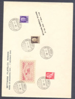 1945 LETTERA COMMEMORATIVA SETTIMANA FILATELICA ROMANA - IMPERIALE P.M. - 5. 1944-46 Lieutenance & Umberto II