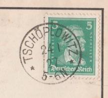 Schlesien Deutsches Reich Karte Mit Tagesstempel Tschöplowitz ** 1927 Kreis Brieg - Briefe U. Dokumente