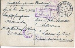 Prentbriefkaart Stadthalle Hannover Van Gent Naar Laarne, 25.9.17 - Guerre 14-18