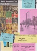 Lot 7 Billets Tickets Entrée Visites Musées Tourisme - Tickets - Vouchers