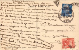 Var, Carte De Sanary Pour Brignoles, Gandon + Taxe     (bon Etat) - Postmark Collection (Covers)