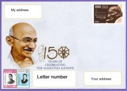 Kazakhstan 2019. A Letter To Your Address. Cover. 150 Anniversary Of Mahatma Gandhi. - Kazakhstan