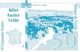Billet Factice 50 Francs  Pont Du Gard  Superbe état - Specimen