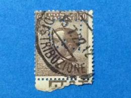 1908 ITALIA REGNO MICHETTI 40 CENT USATO STAMP USED PERFIN CI - 1900-44 Vittorio Emanuele III