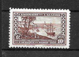 "Algérie Française : N° 100 Neuf * ""centenaire"" (cote 23,oo  €) - Neufs"