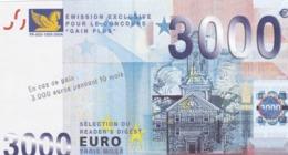 Billet Factice 3000 €    Bon état - Specimen