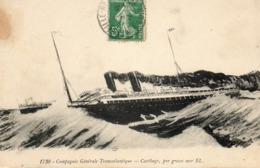 C.G.T....Cartbage  Par Grosse Mer   No.1730 - Steamers