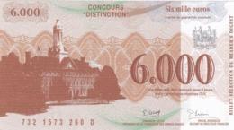 Billet Factice 6000€  Concours   Tres Bon état - Specimen
