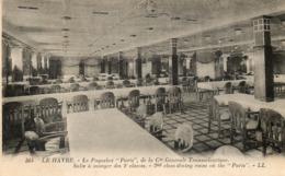 Paquebot   PARIS....salle A Manger Des 2eme Classes - Steamers