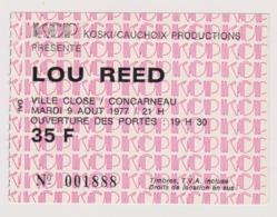 Ticket De Concert De LOU REED à Concarneau 09/08/1977 - Tickets - Entradas