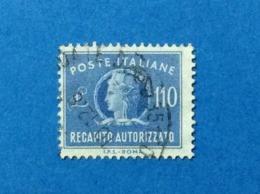 1977 ITALIA RECAPITO AUTORIZZATO 110 LIRE FILIGRANA STELLE FRANCOBOLLO USATO STAMP USED - 6. 1946-.. Repubblica