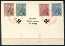 """5294 - BÖHMEN UND MÄHREN - Mi. 85-88 Auf FDC Mit Rotem Stempel """"PRAG"""" - FDC"""