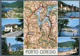 °°° Cartolina - Porto Ceresio Vedute Viaggiata °°° - Varese
