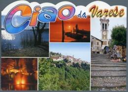 °°° Cartolina - Varese Ciao Vedute Viaggiata °°° - Varese