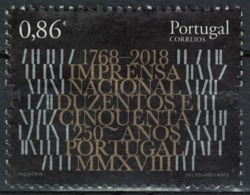 Portugal 2018 Oblitéré Used 250 Ans Imprimerie Nationale Imprensa Nacional SU - 1910 - ... Repubblica