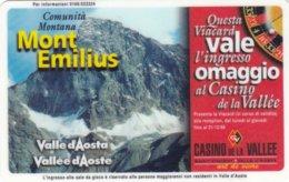 VIACARD COMUNITA MONTANA MONT EMILIUS VALLE D' AOSTA - Italia