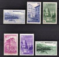 MONACO 1946  - SERIE 6 TP / Y.T.  N° 275 A  280 -  NEUFS** - Neufs