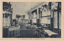 656... F.J. Ebruster's Café Josefsplatz, Baden  - Autriche - Non Classificati