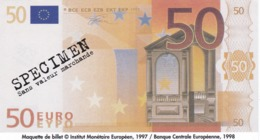 Billet Factice   De 50 € Tres  Bon état - Andere