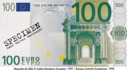 Billet Factice   De 100 € Tres  Bon état - Andere