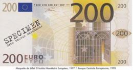 Billet Factice   De 200 € Tres  Bon état - Andere
