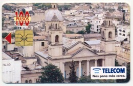 ARGENTINA - ARGENTINE - ARGENTINIEN TELECOM 100 UNITS CHIP PHONECARD TELECARTE CATHEDRAL CATEDRAL SANTIAGO DEL ESTERO - Argentine
