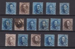 N° 14 Et 15 :  Lot  Timbres Dentelures Diverses - 1863-1864 Médaillons (13/16)