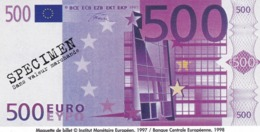 Billet Factice   De 500 € Tres  Bon état - Andere