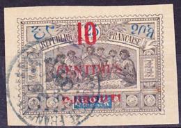 Côte Des Somalis 1902 Timbre D'Obock Surchargé Yv 31, Mi 33 Oblitéré O, Je Vends Ma Collection! - Costa Francesa De Somalia (1894-1967)