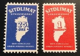 Greenland 1962 SITDLIMAT SPAREMAERKE Postal Saving Set MNH ** VF (Grönland Dänemark Groenland Carte Map Danemark Denmark - Groenland